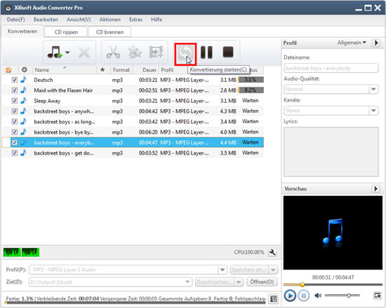 Xilisoft Audio Converter Pro Anleitung