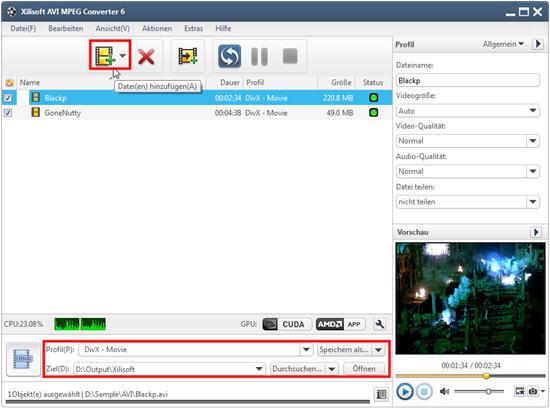 Xilisoft AVI MPEG Converter