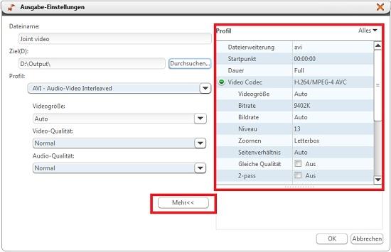 Xilisoft AVI MPEG Joiner Anleitung