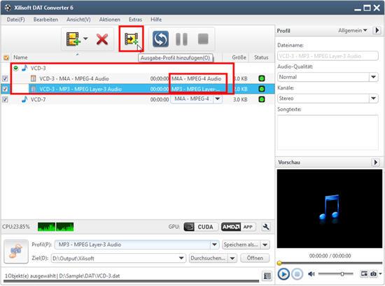 Xilisoft DAT Converter Anleitung