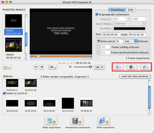 Xilisoft DVD Snapshot Mac