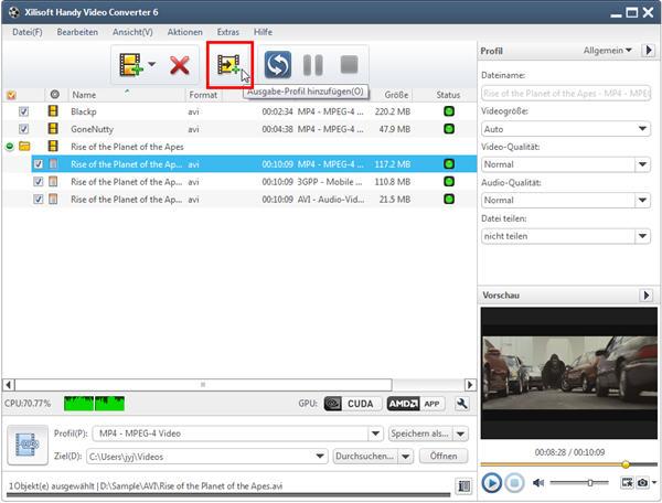 Videos für Handy konvertieren
