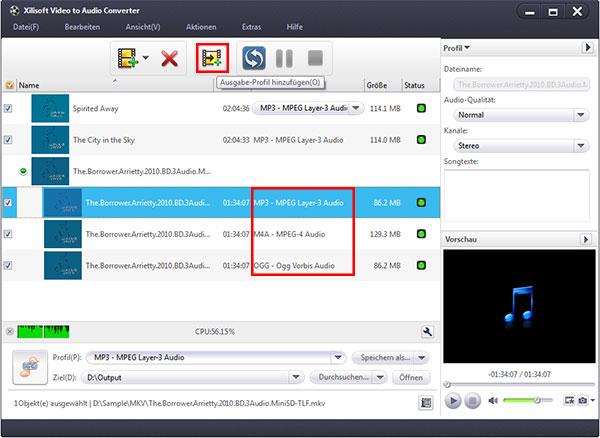 Audio aus Video File extrahieren Gebrauchsanleitung