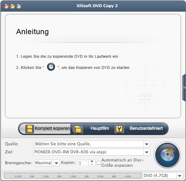 Xilisoft DVD Copy for Mac